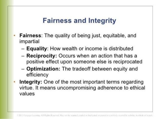definition of fairness in business ethics