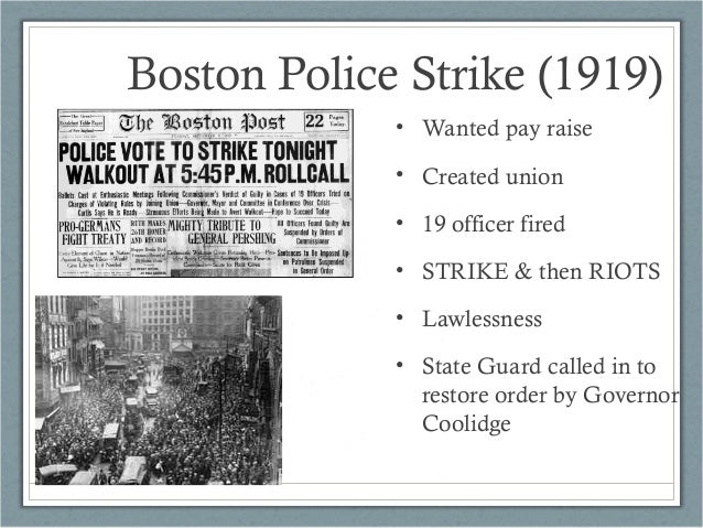 Labor Studies/ Case Study On The Boston Police Strike Of 1919 term paper 12834