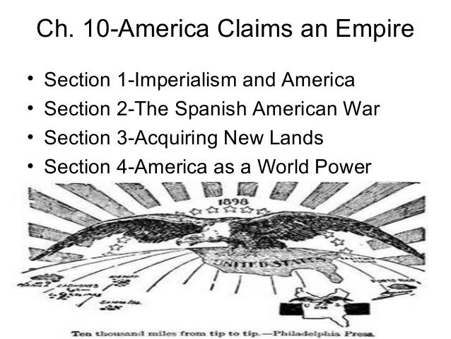 the spanish american war and imperialism Tulpehocken hs 3 causes of spanish american war imperialism social darwinism- activity.
