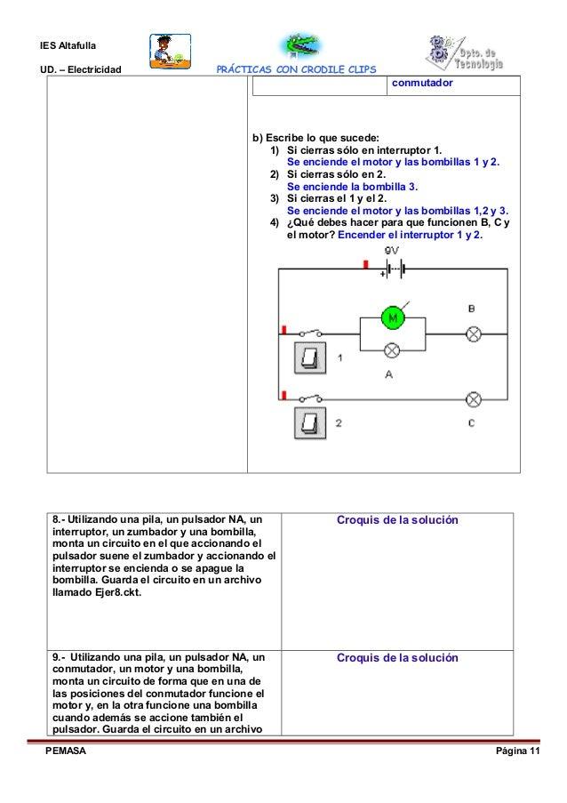 Circuito Que Tenga Un Interruptor Una Pila Y Una Bombilla : Prácticas coco drile