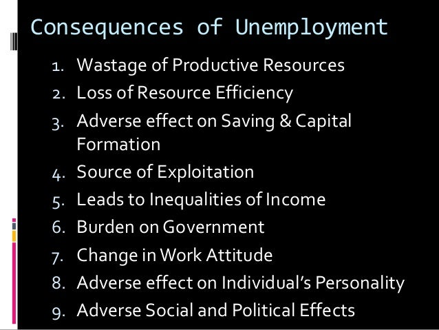 effects of unemployment in india