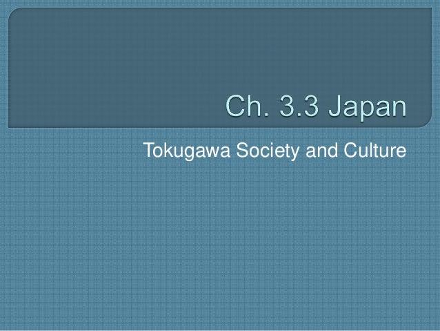 Tokugawa Society and Culture