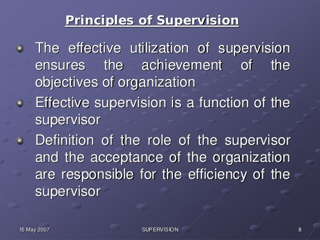 essay about supervision Article shared by essay / article – 1 though everyone will work in different places such as a company, a college or university, a factory and so on, i think there are the same standards judging a good supervisor in several aspects.