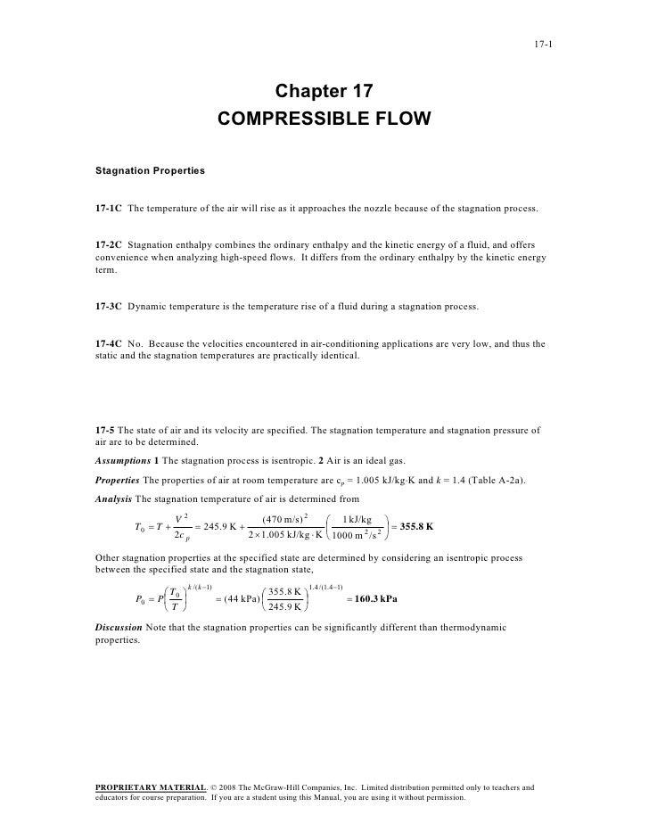 17-1                                         Chapter 17                                     COMPRESSIBLE FLOWStagnation Pr...