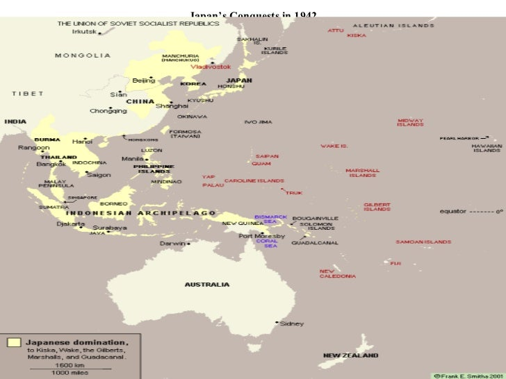 Japan's Conquests in 1942
