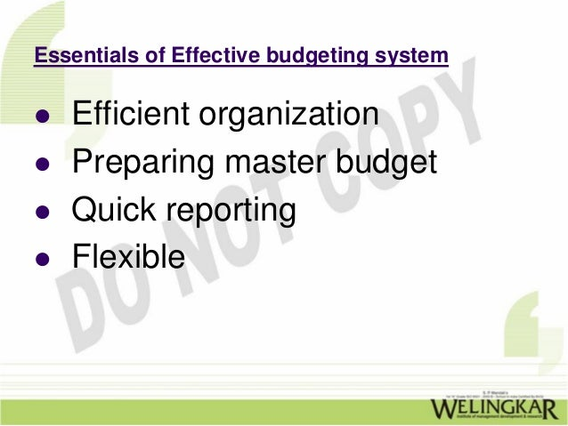 advantages and disadvantages of effective budget control Balanced-budget advantages & disadvantages of the balanced budget advantages and disadvantages of budget control  in the effective.