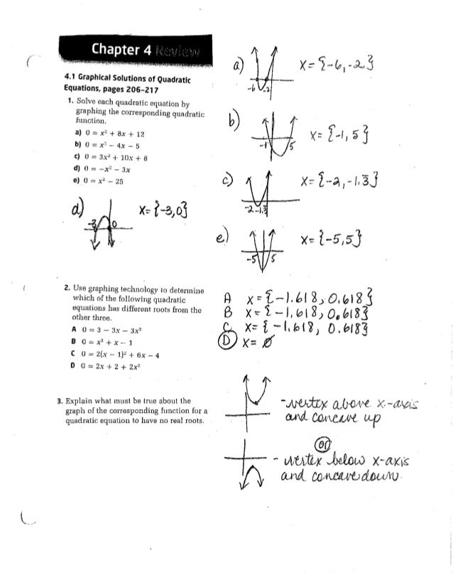 mrs sack s pre calc 20 ch 4 review assignment answer key
