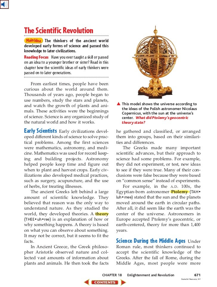 ch 18 enlightenment and revolution rh slideshare net guided reading activity 17-2 the scientific revolution answers Galileo Galilei