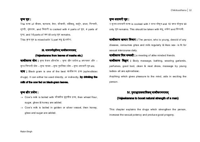 Chikitsasthana 12 Rabin Singh ष् र् : The ल् of , , ा, र , चि ि, ज , िाक्षा, च प् ल , ण् , ा , and च ा is cooked with 4 pa...
