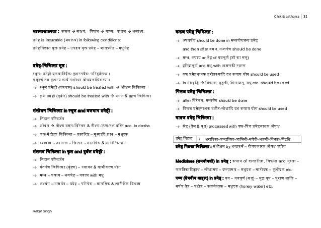 Chikitsasthana 31 Rabin Singh ाध् ा ाध् ा :  ाध् , च त्त  ाप् , ा  ाध् . प्र is incurable ( ाध् ) in following conditio...