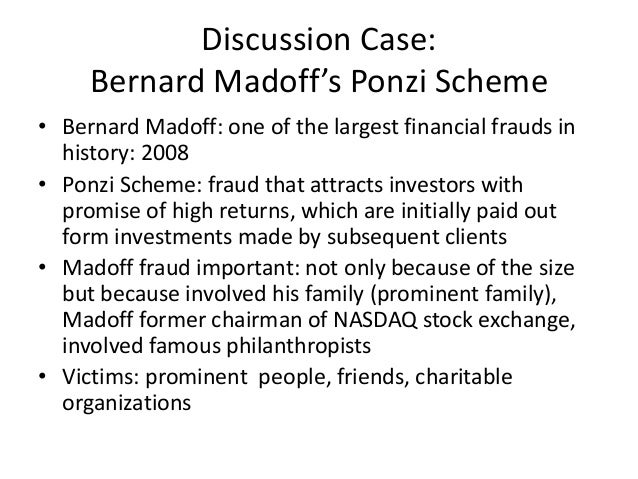 the financial effect of bernie madoffs ponzi scheme Did bernie madoff run a ponzi scheme or was there actual trading  published by tiso blackstar and distributed with the financial mail on the last thursday of every month except december and .