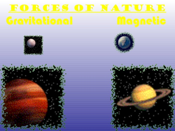 Forces of Nature Gravitational  Magnetic