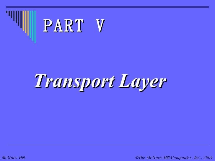 Transport Layer PART V