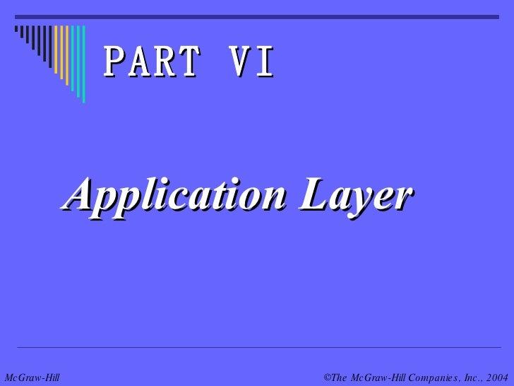 Application Layer PART VI