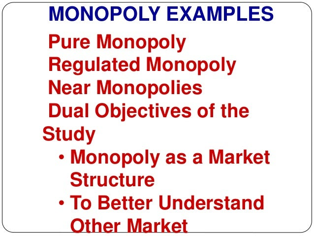 legal monopoly a lot of condition studies