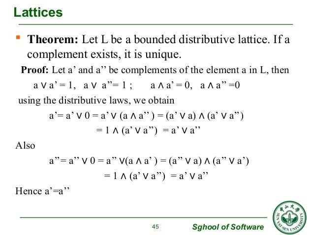 Ring Lattice Theorem