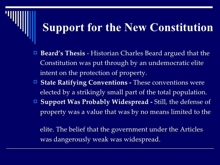 beard thesis of the constitution apush