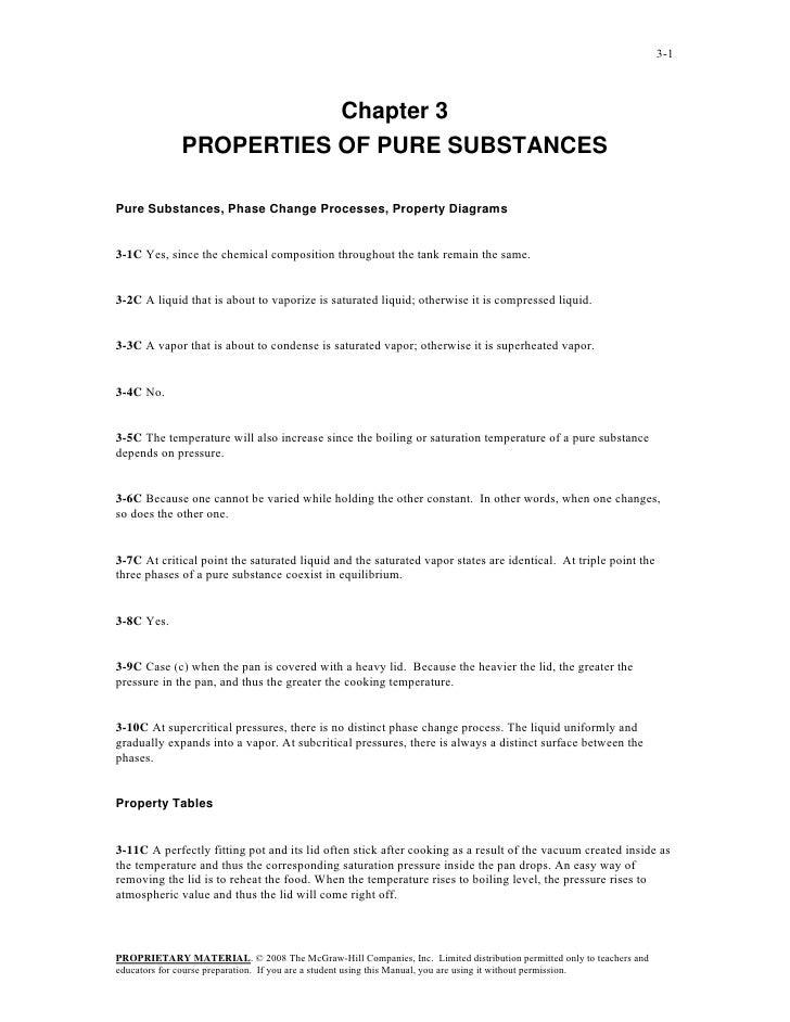 3-1                        Chapter 3             PROPERTIES OF PURE SUBSTANCESPure Substances, Phase Change Processes, Pro...