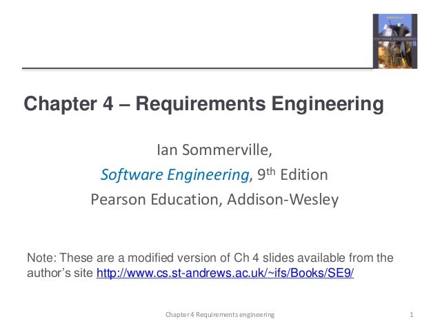 ian sommerville software engineering 9th edition ch 4