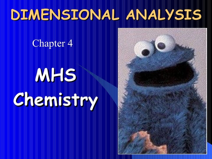 DIMENSIONAL ANALYSIS MHS Chemistry Chapter 4
