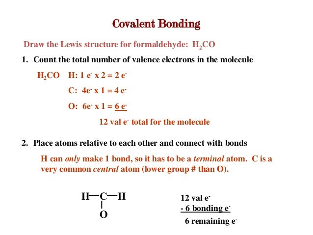 Ch. 4 lecture H2co Lewis Structure