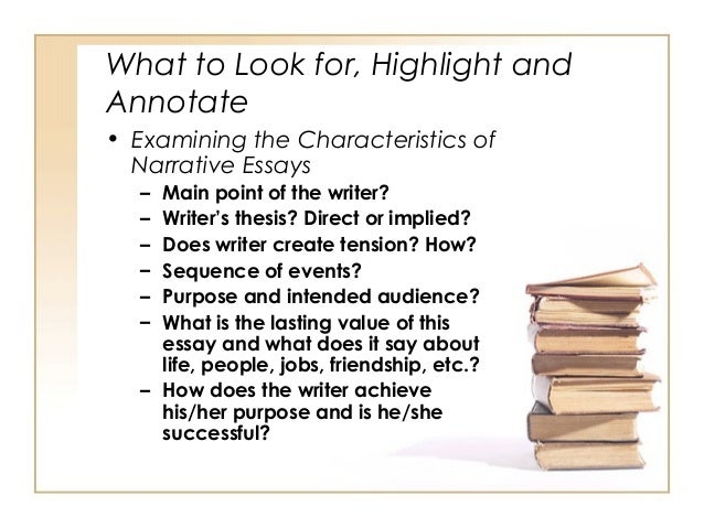 narrative essay characteristics What are the characteristics of narrative writing , how.
