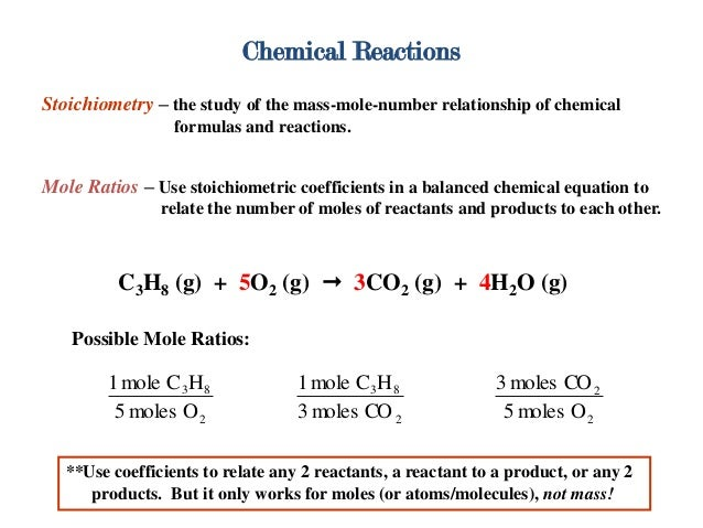 mole ratios in a chemical reaction essay Date per lab: mole ratio in a chemical reaction in this experiment you will react baking soda (nahco3) with hydrochloric acid (hcl) to produce salt (nacl.