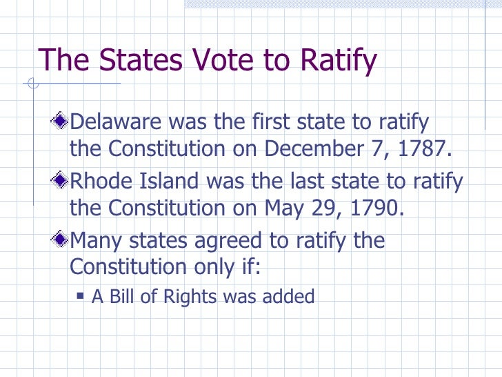 what was the first state to ratify the constitution