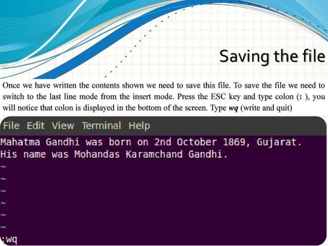 Vim Editor And Basic Scripting (Ch-7)
