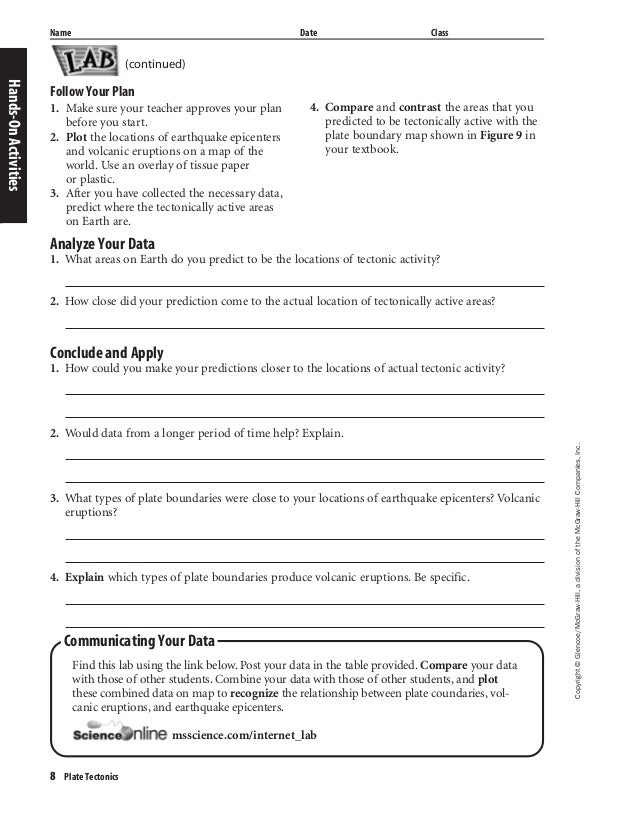 glencoe science volcano worksheet glencoe best free printable worksheets. Black Bedroom Furniture Sets. Home Design Ideas
