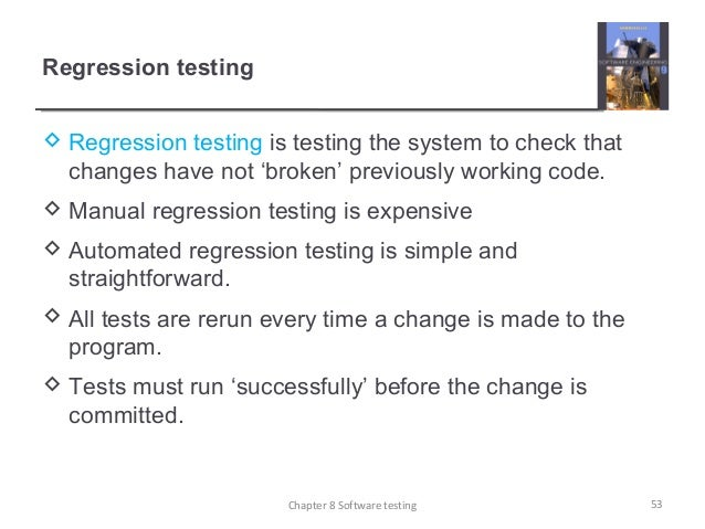 regression testing in software engineering
