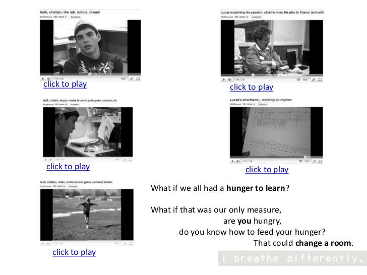 click to play<br />click to play<br />click to play<br />click to play<br />What if we all had a hunger to learn? <br />Wh...