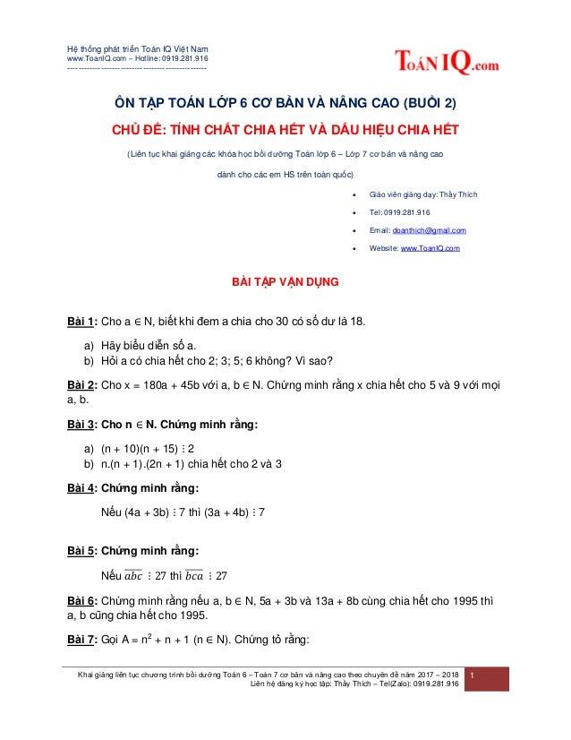 Hệ thống phát triển Toán IQ Việt Nam www.ToanIQ.com – Hotline: 0919.281.916 ----------------------------------------------...