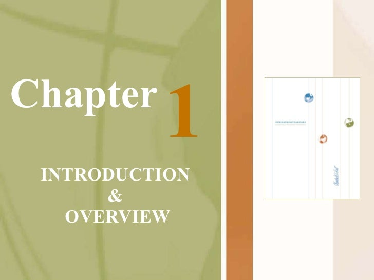 Chapter INTRODUCTION & OVERVIEW 1