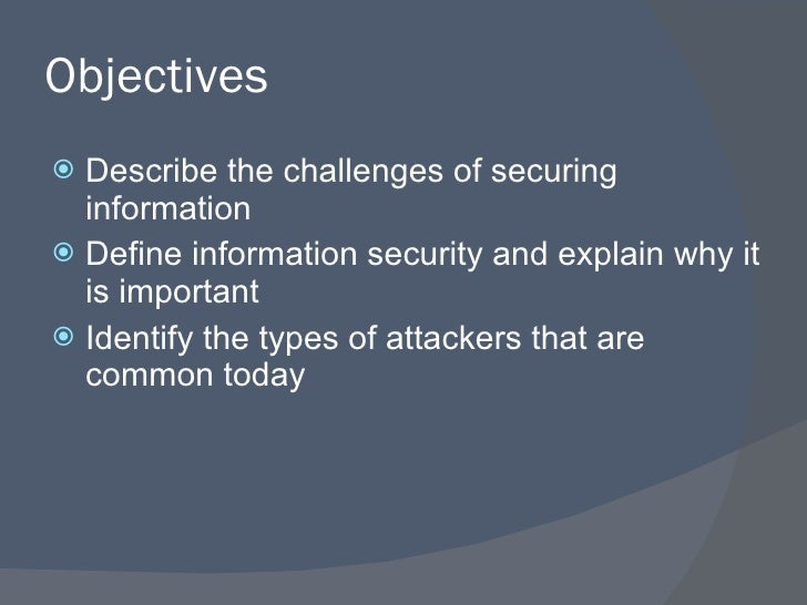 an introduction of internet security and vulnerabilities Vulnerabilities, threats, and attacks introduction to network security this chapter consists of an lawmakers concern over the lack of internet security.