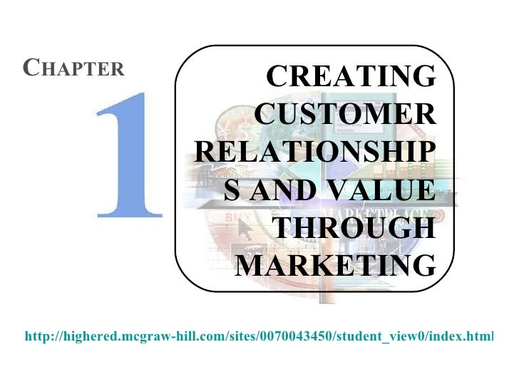 CREATING CUSTOMER RELATIONSHIPS AND VALUE THROUGH MARKETING C HAPTER http://highered.mcgraw-hill.com/sites/0070043450/stud...
