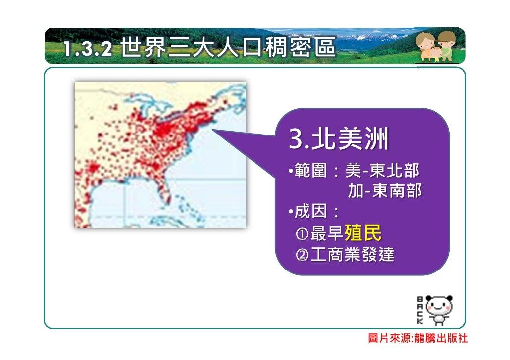1.4 人口分布與環境、區域經濟發展 一國內部人口分布亦不均:與環境條件、 區域經濟發展密切相關 都市:交通擁擠、住宅密度高、環境污染 鄉村:好山好水   環境條件            人口分布 區域經濟發展  都市:人力充沛、產業發達 鄉村...