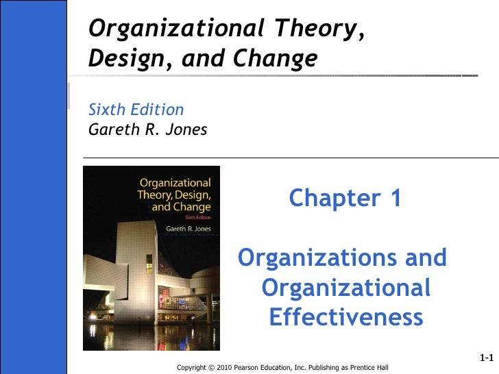 Ch01 Organisation Theory Design And Change Gareth Jones