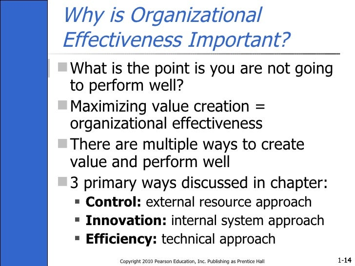 Why is Organizational Effectiveness Important? <ul><li>What is the point is you are not going to perform well? </li></ul><...
