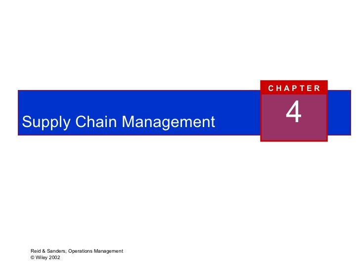 Production and operations management chapters 1 8 supply chain management 4 c h a p t e r fandeluxe Choice Image