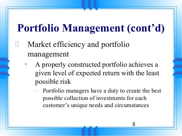 security analysis and portfolio management In the current scenario, investing in the stock markets poses a significant challenge even for seasoned professionals not surprisingly, many students find the subject security analysis and portfolio management difficult.