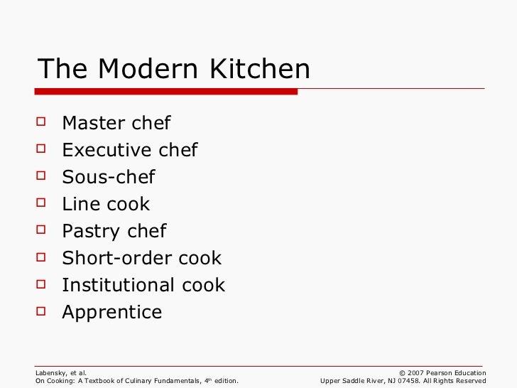 Restaurant Kitchen Brigade ch 01 professionalism