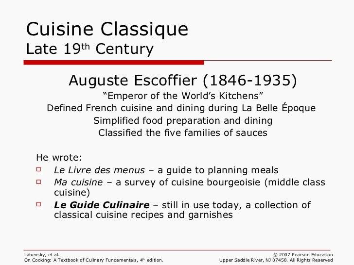 classical kitchen brigade