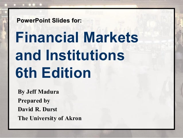 And financial institutions pdf markets