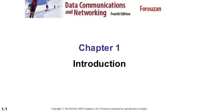 Chapter 1: Introduction to Data Communication and Networks