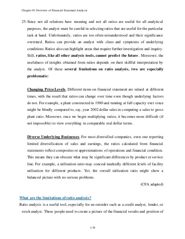 Chapter 1   Overview Of Financial Statement Analysis