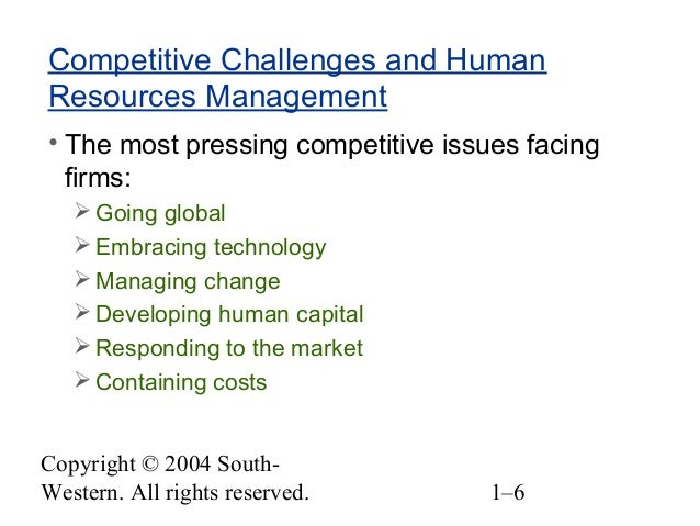 Major Challenges Affecting a Human Resources Manager