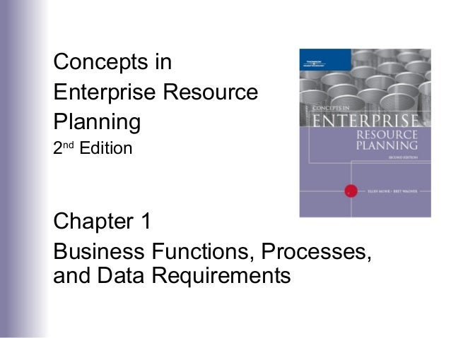 Concepts in Enterprise Resource Planning 2nd Edition Chapter 1 Business Functions, Processes, and Data Requirements
