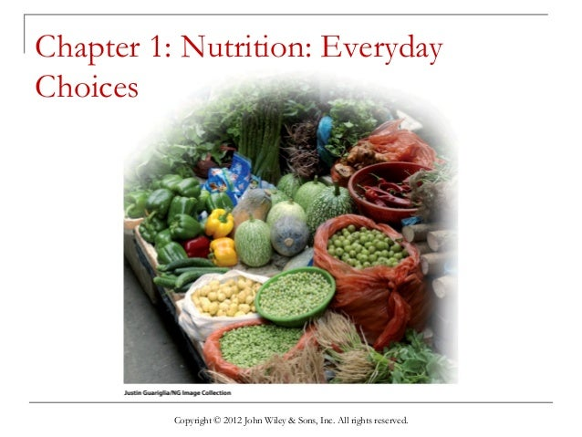 Copyright © 2012 John Wiley & Sons, Inc. All rights reserved. Chapter 1: Nutrition: Everyday Choices