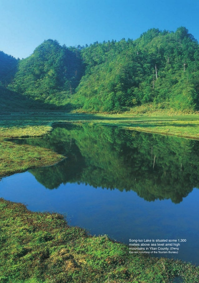 Song-luo Lake is situated some 1,300                        meters above sea level amid high                        mounta...